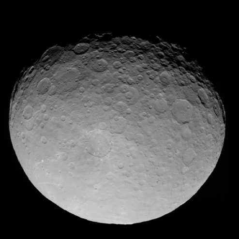A photograph of Ceres.