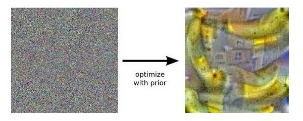 Image of a banana created by the Deep Dream artificial neural network