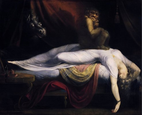 Painting of 'The Nightmare' by John Henry Fuseli.
