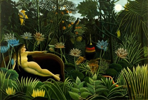 Painting of 'The Dream' by Henri Rousseau.