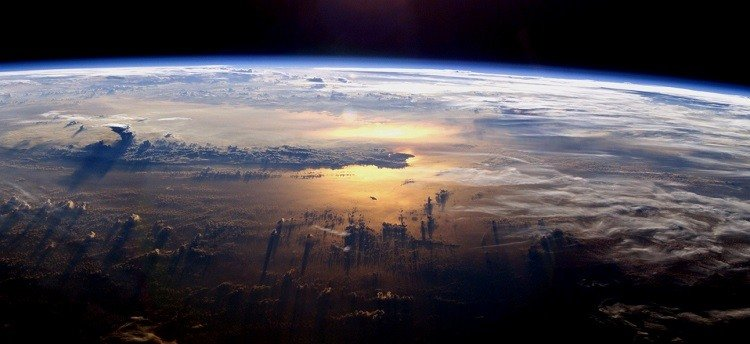 Photograph of the Earth taken from the International Space Station.