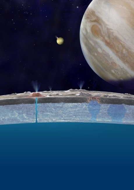 Artist's impression of Europa's ocean.