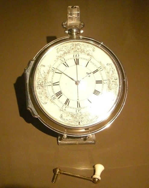 Photograph of Harrison's chronometer.