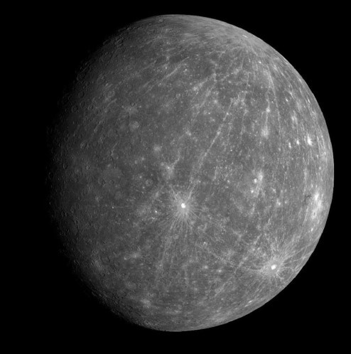 A photograph of Mercury.
