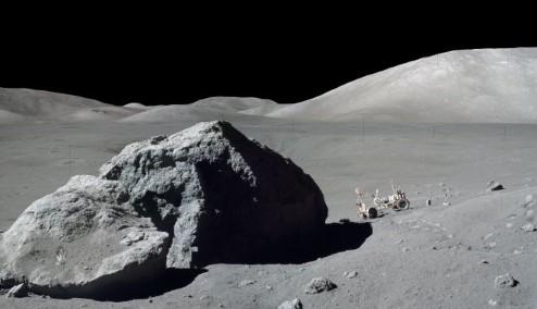 Photograph of astronaut Harrison 'Jack' Schmitt on the Moon.