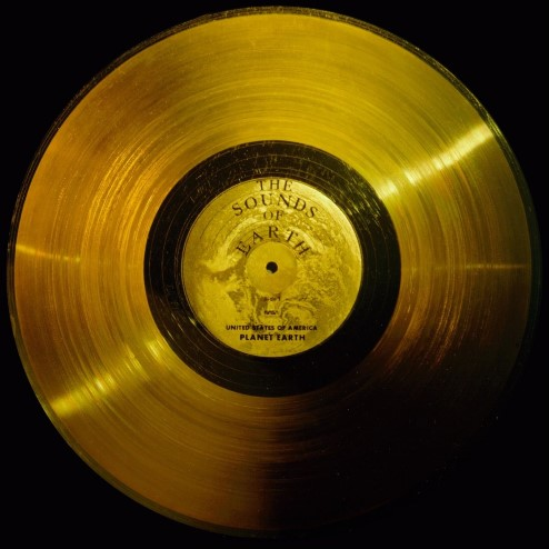 Photograph of the Voyager Golden Record.