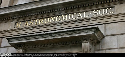 Photograph of the entrance to the Royal Astronomical Society.