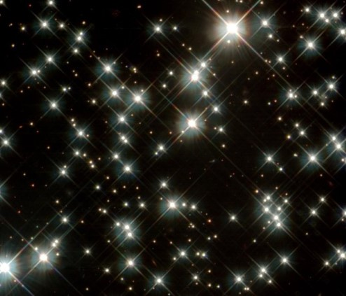 Photograph of white dwarfs.