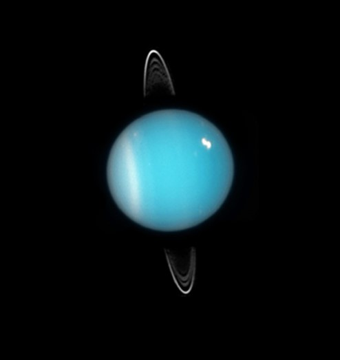 Photograph of Uranus.