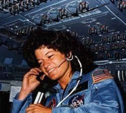 Photograph of Sally Ride.