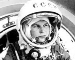 Photograph of Valentina Tereshkova.